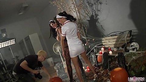 Behind the scenes photo shoot with milf Shana Lane and Roxy Lane