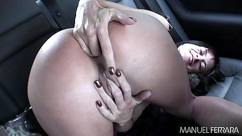 self ass fingering in the back seat with raw slut Cecilia Vega
