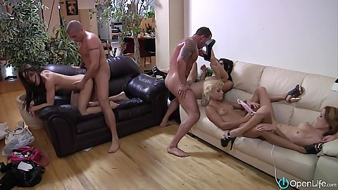 Loaded guns party with orgy girls Nikki Lips and Amylee and Roxy Lane and s1