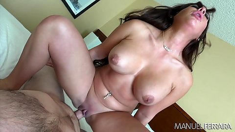 Classy milf with large knockers Alexa Pierce jumping on dick and missionary loving