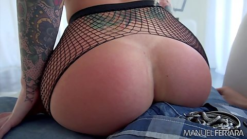 Fishnet ass blonde Christy Mack a true pornstar