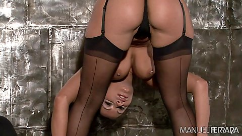 Elegant body slut Charley Chase shows ass in behind the scenes