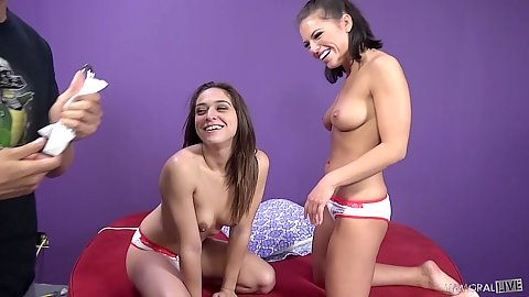 Two petite latina girls Sara Luvv and Adriana Chechik