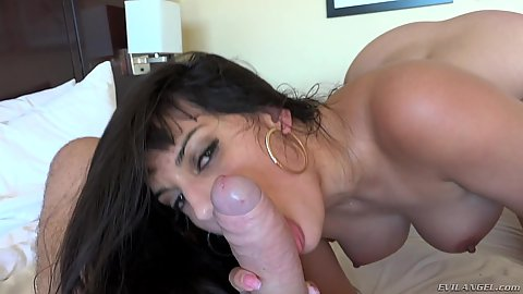 Temping blowjob with busty latina milf Mercedes Carrera in pov