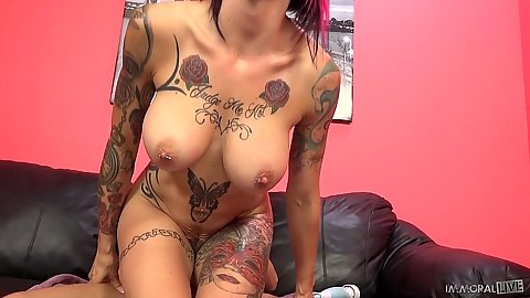 Reverse cowgirl cock bouncing with huge boobies Anna Bell Peaks