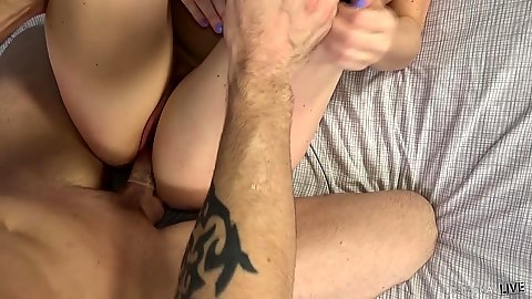 Raised legs milf cock adventure with Maggie Green