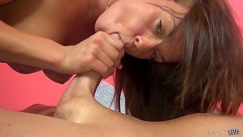Petite super duper cock sucking girl Rahyndee James