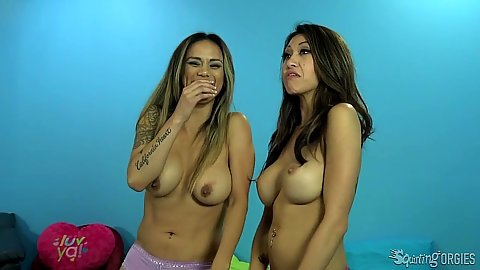 Big boobies asian broads Nadia Styles and Jayden Lee
