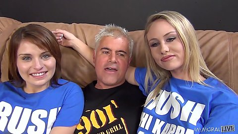 Brynn Jay and Charlee Monroe in competition fuck