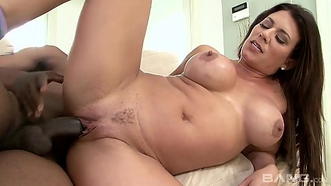 Dangerous mom milf Leena Sky sideways bbc filled