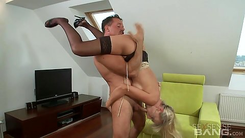 In the air 69 from big butt Carmella in stockings