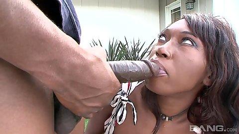 Cock sucking round ass ebony cougar Delotta Brown
