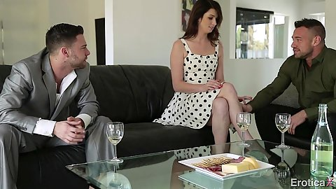 Aspen Ora sits and talks about trying something new with two men