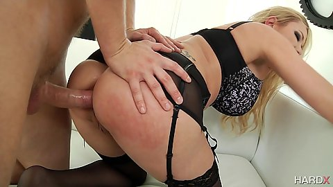Anal ass fucking with bent over milf in lingerie Briana Banks