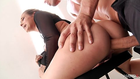 Anal sex on a chair with sexy ballerina doll Cassidy Klein