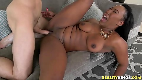 Spread legs pussy ramming with intense black chick Cher Adele