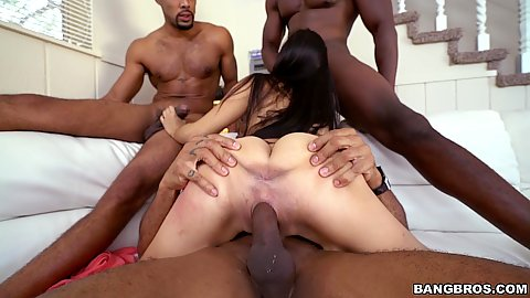 Petite latina cowgirl pussy stretched out Michelle Martinez in gang bang