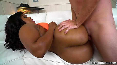 Submissive black girl Ms. Yummy entered with dick