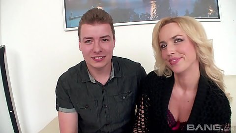 Blonde wife comes in for interracial cuckuld
