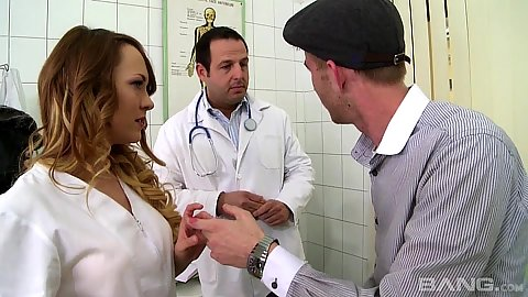 Hospital visit with Hanna Sweet giving big dick head