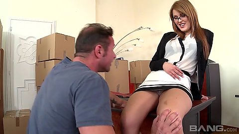Hanna Montada fully clothed gets a man to go under her skirt