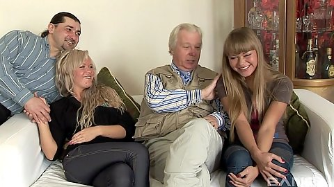 Old man young girl with two euro sluts Sveta and Nesti Shy