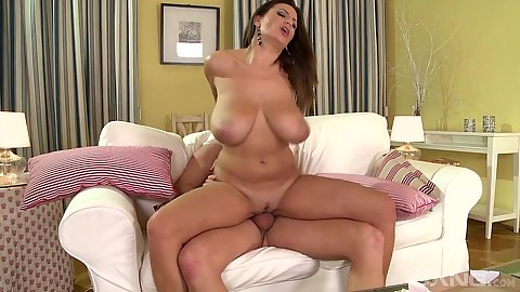 Large boobs bouncing around as milf Sensual Jane sits on cock