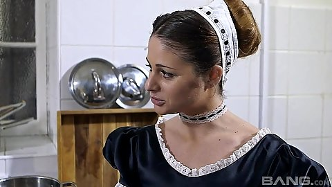 Lovely manor maid Emma Leigh and Cathy Heaven
