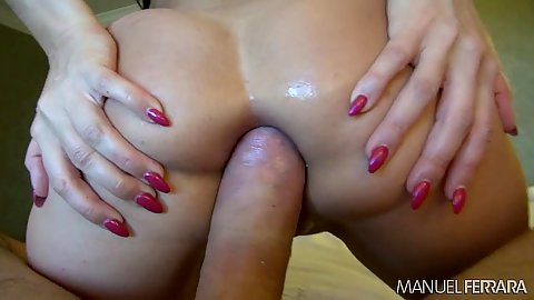 Ass spreading big dick anal penetration from naughty whore Eva Karerra
