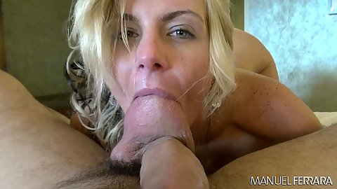 Sucking balls and cowgirl pussy penetration from luscious Phoenix Marie in pov