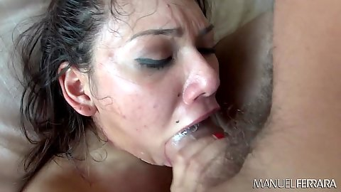 Big dick deep throat from majestic petite skank Eva Fenix in pov