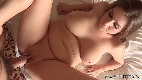 Captivating big chest girl Alex Chance spreads her legs for large penis