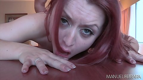 Rough sex rear fucking with daring redhead Karlie Montana