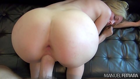 Nice looking round booty doggy pumping Kayden Kross