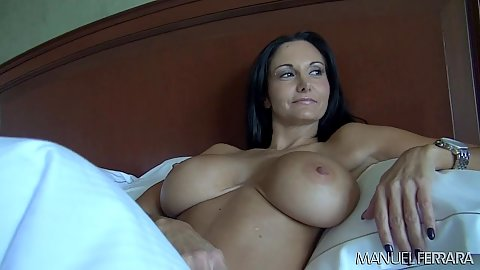 Large melons Ava Addams read in bed