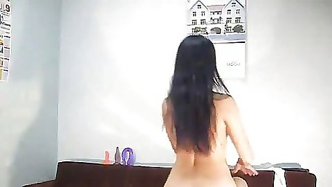 Naked milf does a little dance on video