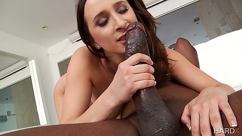 Ashley Adams adoring monster cock then jumps on it in anal