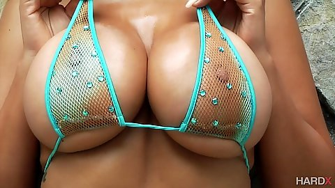 Big tits and curvy ass blonde latina Bridgette B showing her goods