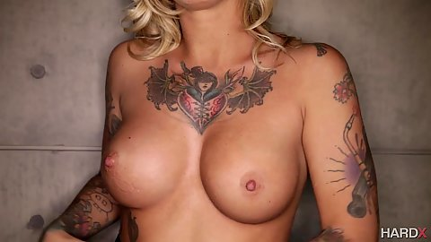Very busty perky boobies with tattoo girl Kleio Valentien