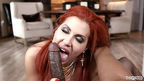 Big black monster dick Savana Styles does deep throat on that
