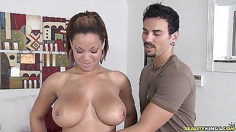 Natasha is showing off her huge latina tits