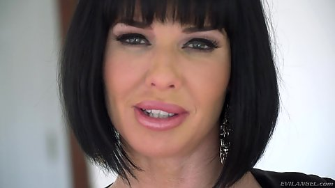 Sophisticated milf Veronica Avluv in sexy lingerie posing
