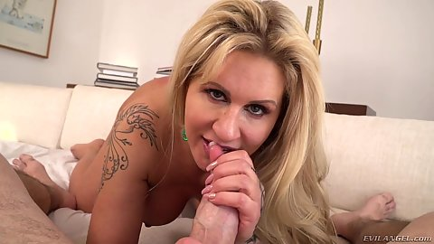Enticing pov milf blonde oral sex and doggy ramming Ryan Conner