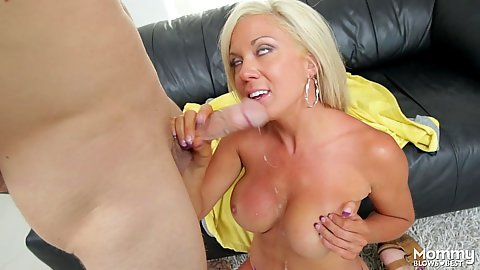 Attractive milf oral sex and titty fuck Parker Swayze
