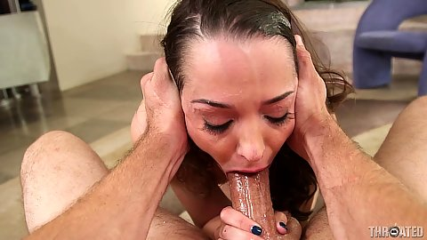 Pretty face deep throat with saliva dripping face fucked Nikki Next