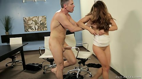 Undressing for office 1 on 1 Veronica Vain