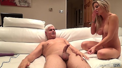 Lovely busty milf Sienna Day looks at dick and has orgasms