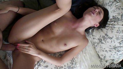 Indulging in vaginal sex a very skinny petite cutie Zoe Voss