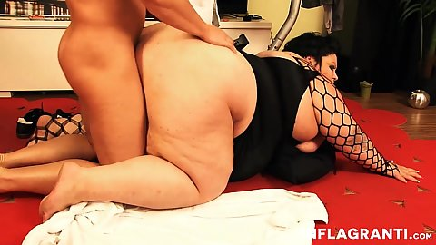 Rear entry bbw plowing with vivacious Babe Core