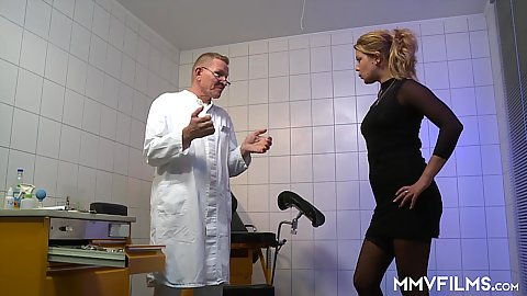 Doctor visit with Bonnie Parker having her mouth and vagina examined